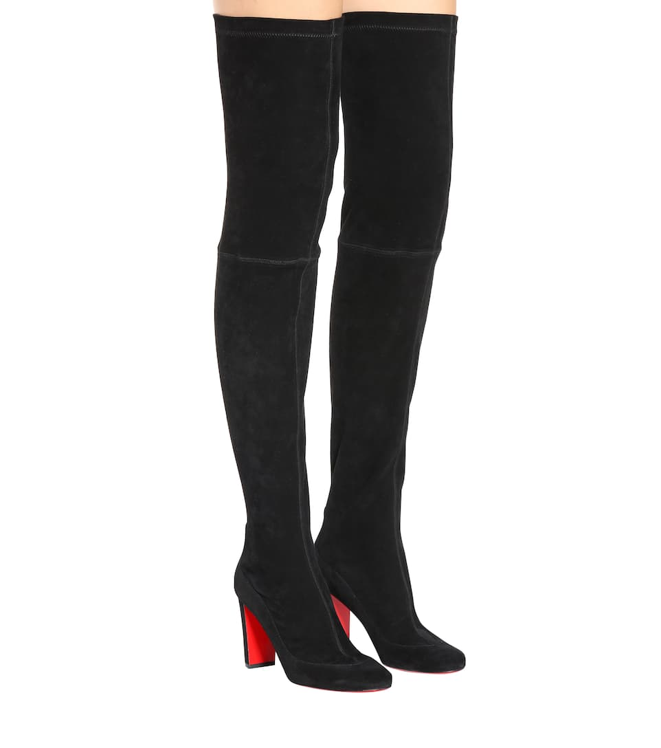 online store f51f4 f3d13 Kiss Me Gena 85 Suede Over-The-Knee Boots - Christian ...