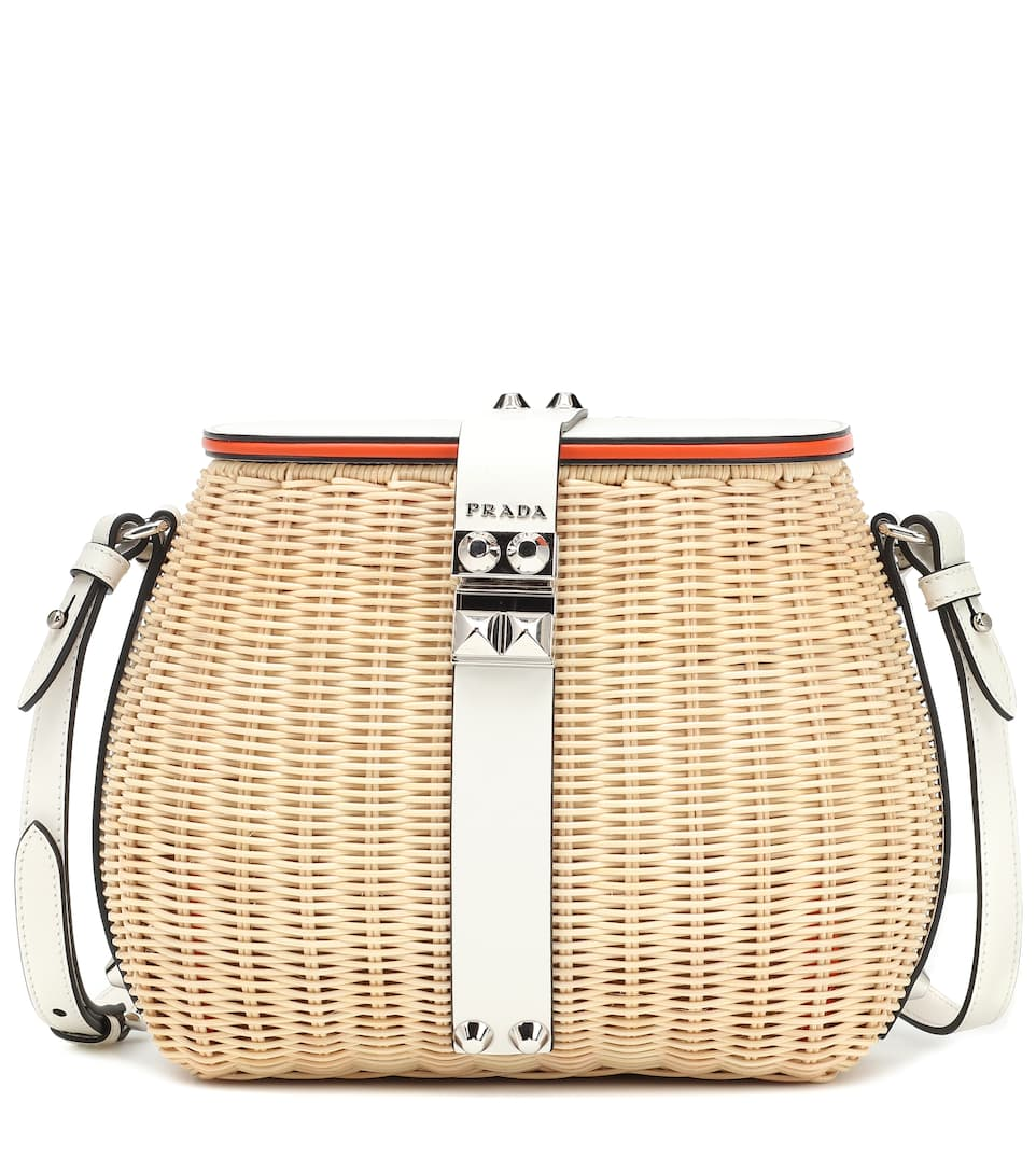 39496d37ac21 Prada - Rattan shoulder bag | Mytheresa
