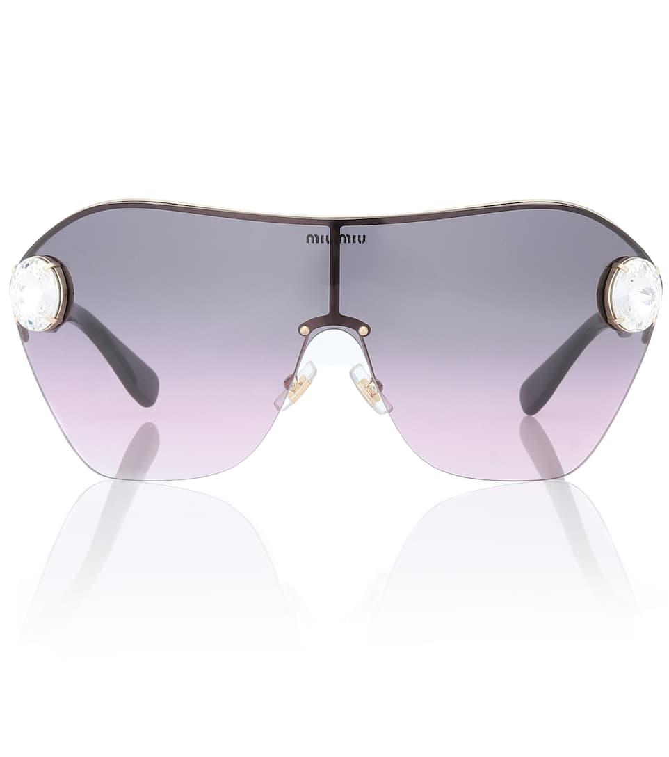 Enchant Embellished Sunglasses by Miu Miu