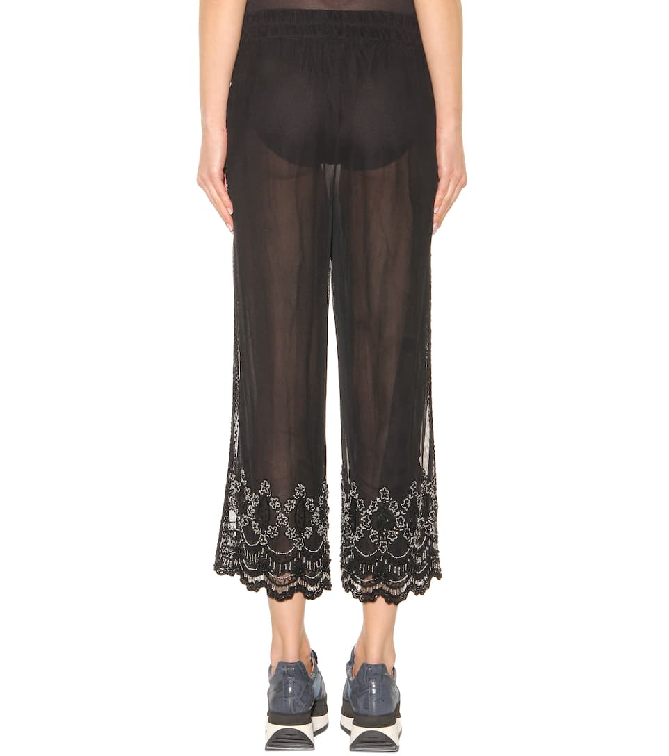Pantaloni martinez in tulle con for Decorazione jeans