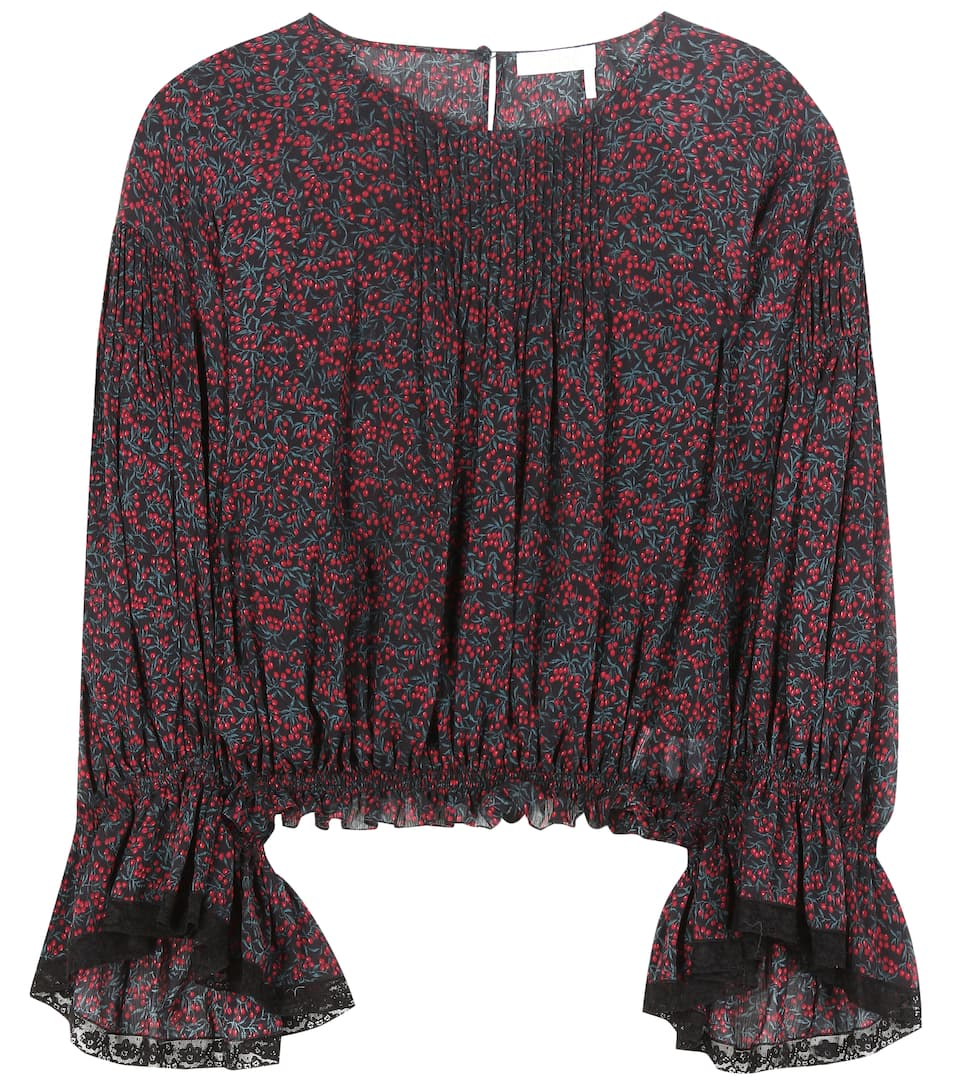 Chloé Cottons PRINTED COTTON AND SILK TOP