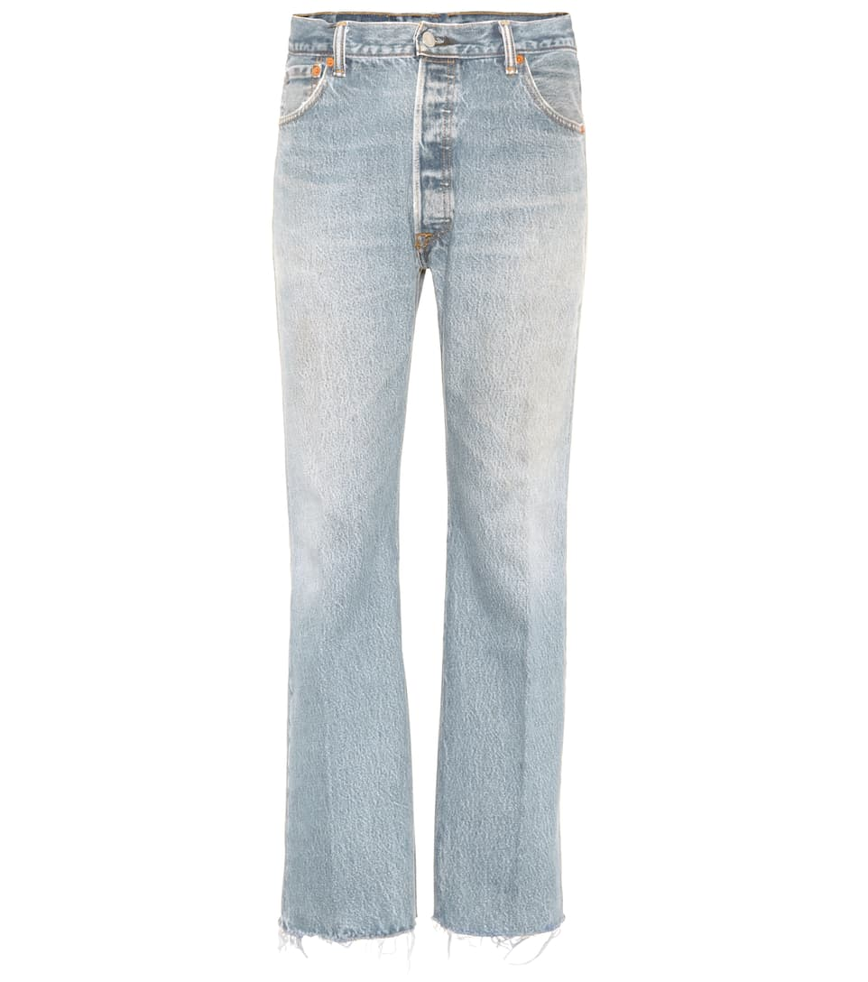 Re/Done Lea high-waisted cropped jeans