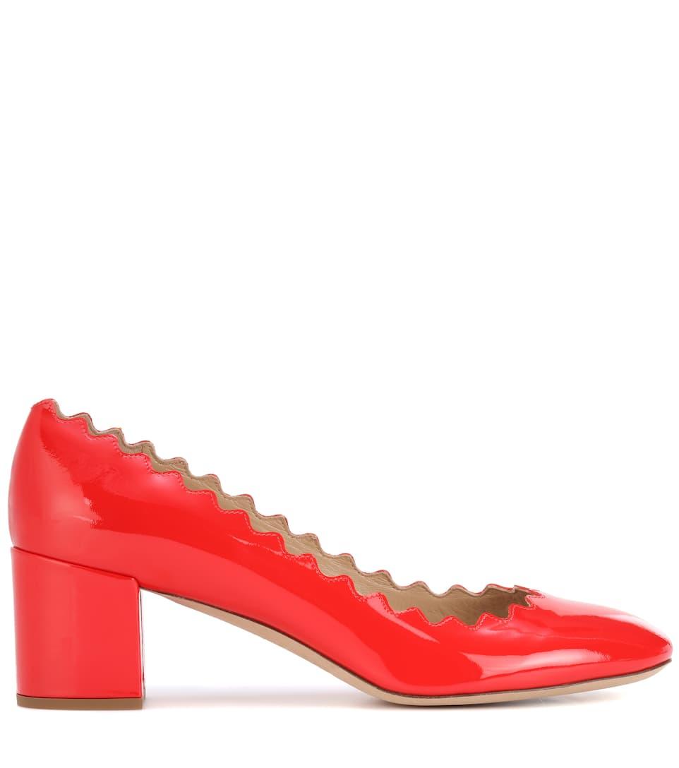 Buy Cheap Shop Offer Cheap Sale High Quality Chloé Lauren patent leather pumps Shiny Red jNNCF98Qh8