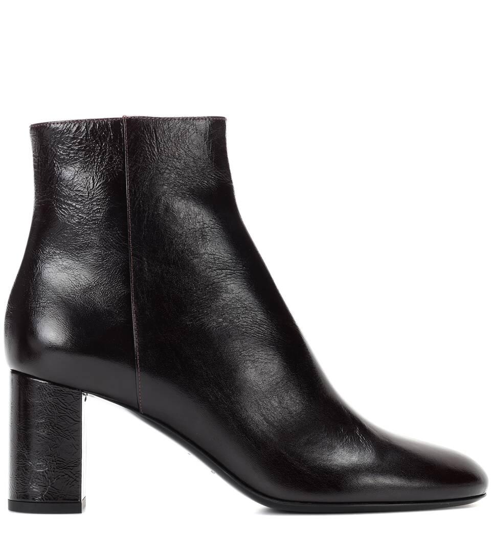 Saint Laurent Ankle Boots Loulou 70 aus Leder