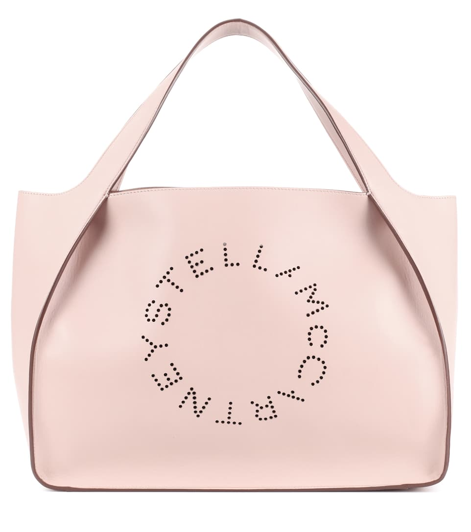 Stella Logo Faux Leather Tote - Stella McCartney   mytheresa.com afa71eaf01