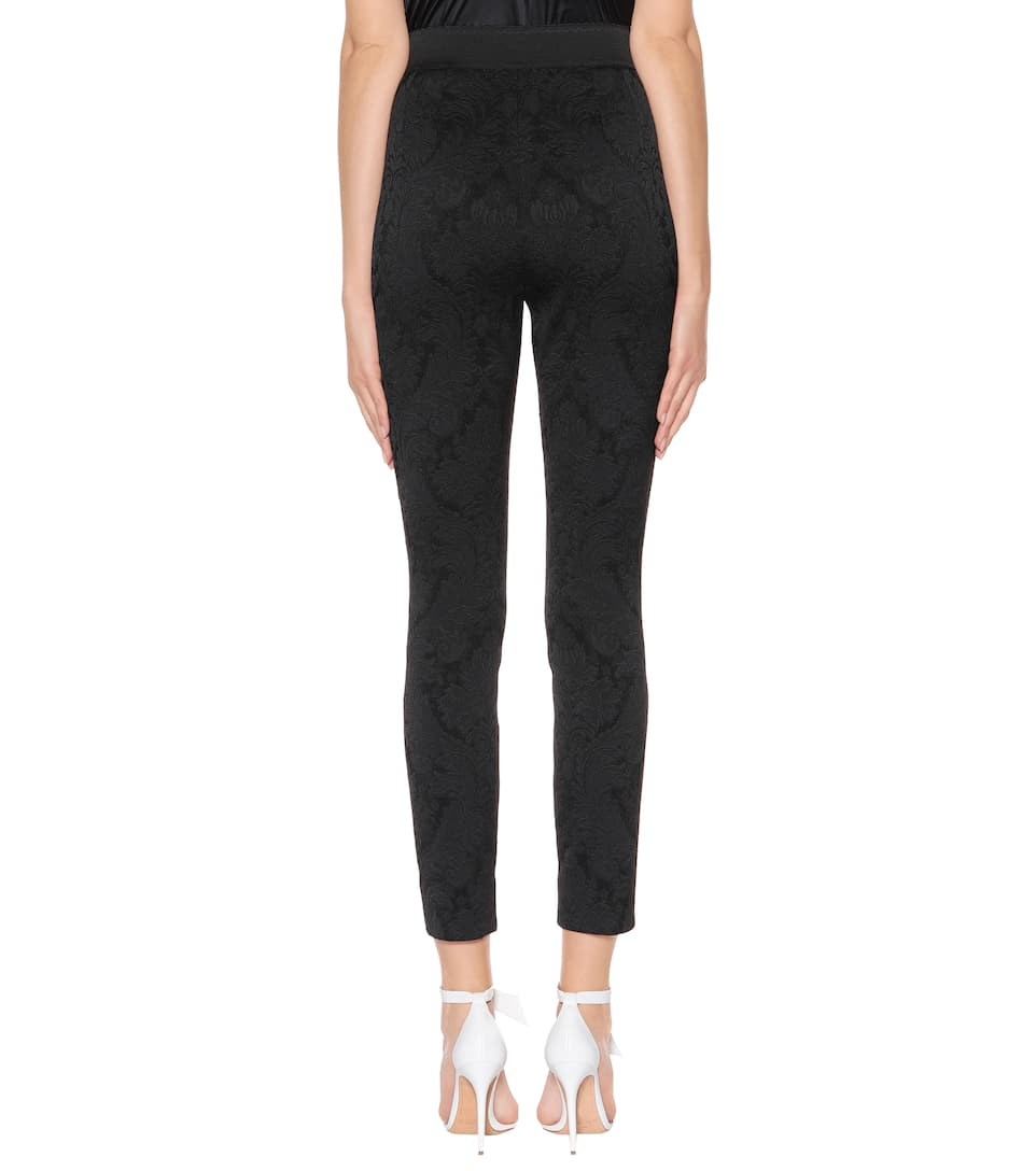 Dolce & Gabbana High-waisted jacquard trousers Nero Clearance Release Dates Cheap Sale Latest Collections Clearance Outlet Buy Cheap In UK Buy Cheap Discount M3npH