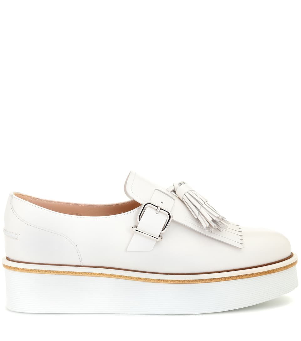 5e74cd01257 Leather Platform Loafers - Tod s