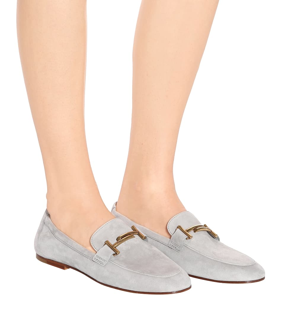 Tod's Loafers Double T aus Veloursleder