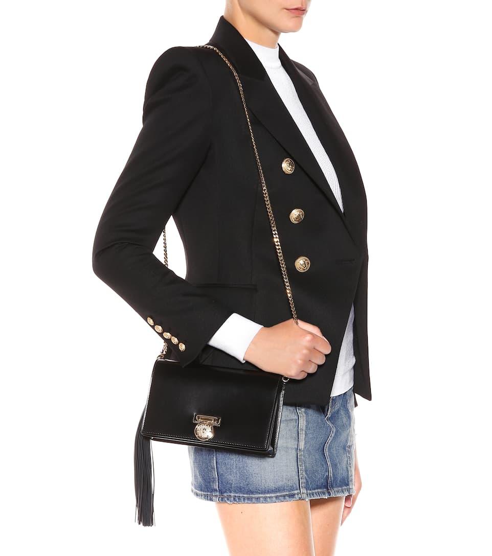 Noir Mini BBox de Balmain cuero embrague w6x455qZX