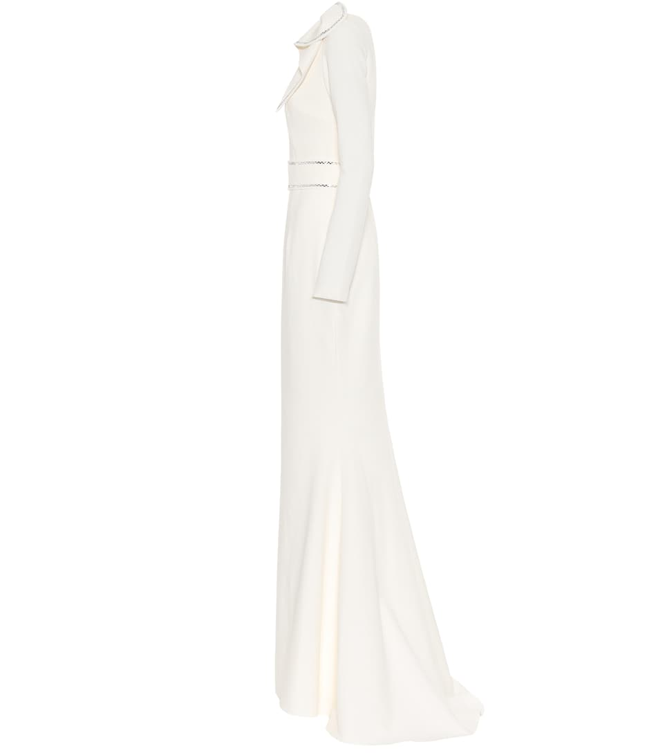 Safiyaa - Heliconia stretch-crêpe gown