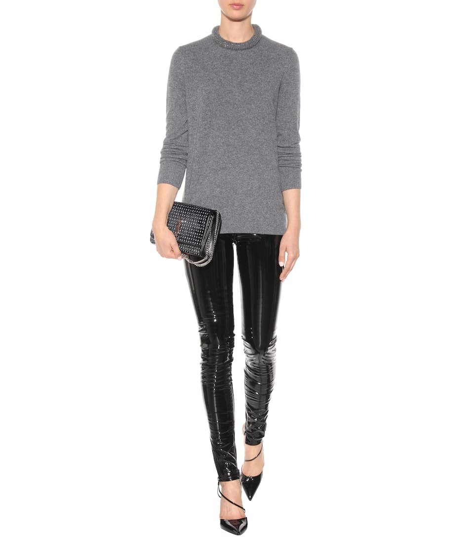 Faux Patent Leather Trousers Luxury