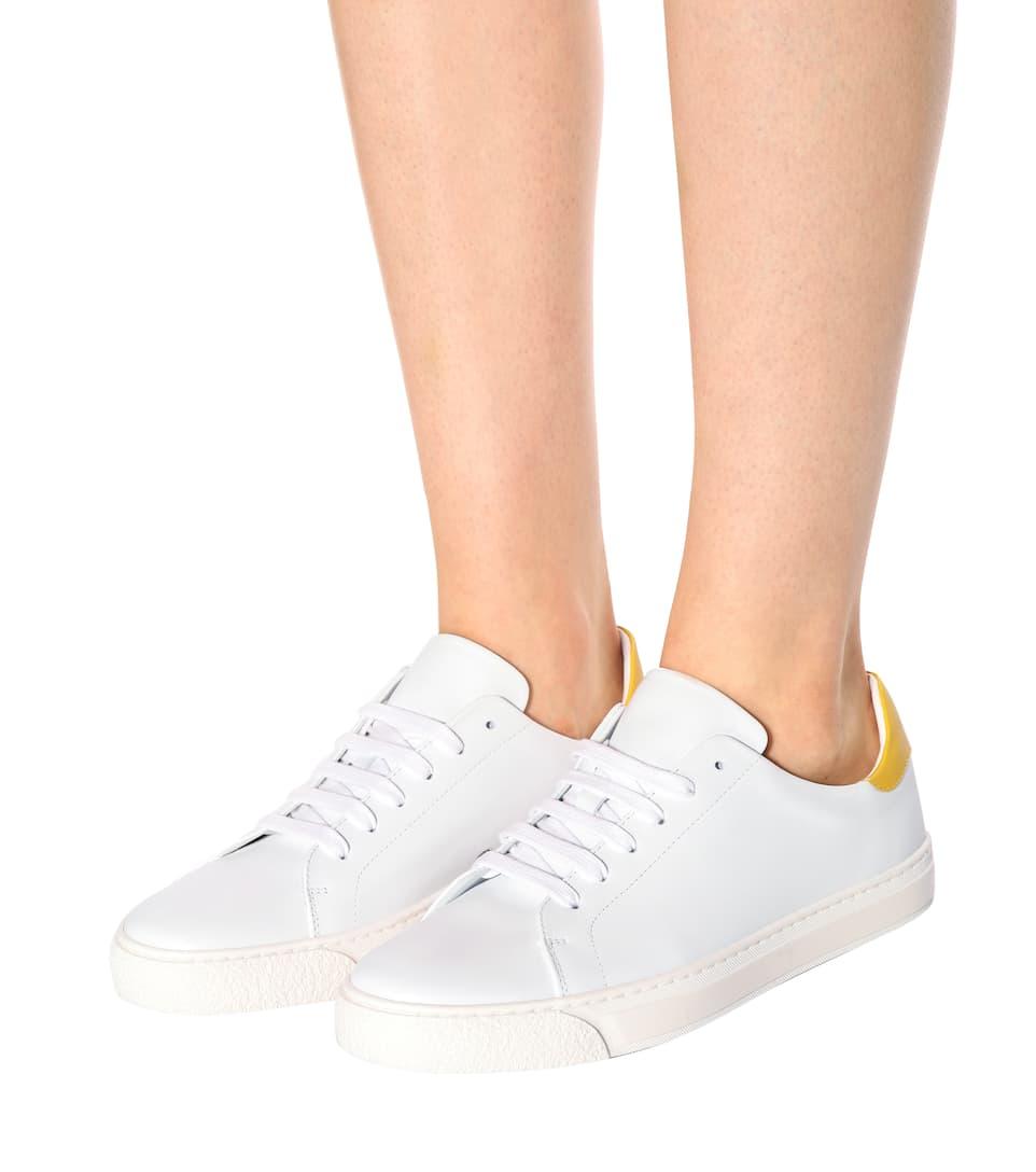 Anya Zapatillas cuero Hindmarch de Wink blancas qfEfZrwFa