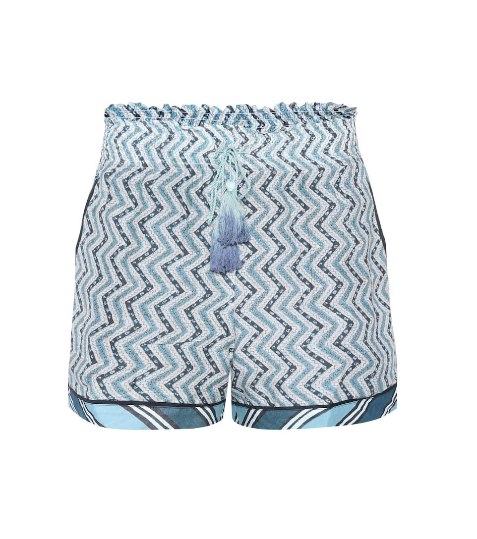 Printed cotton and silk shorts Talitha