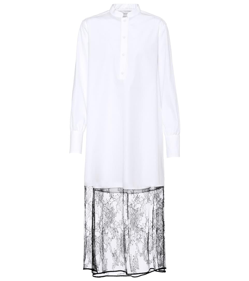Valentino - Robe en coton et dentelle