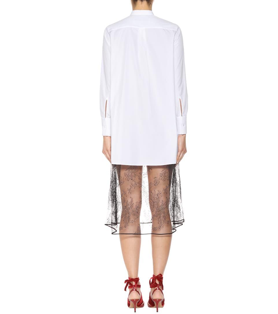 Valentino Kleid aus Baumwolle mit Spitze