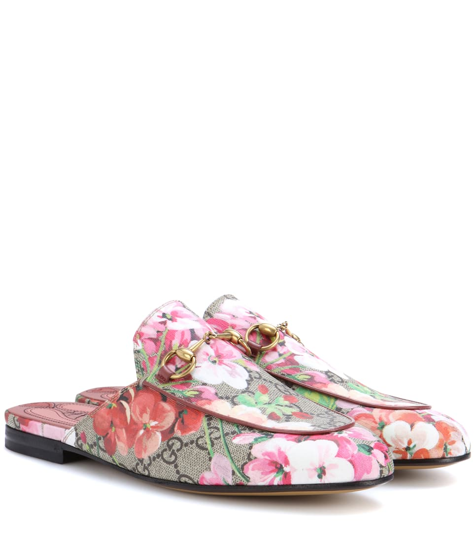 ff8659ec4 Princetown Canvas Slippers - Gucci | mytheresa.com