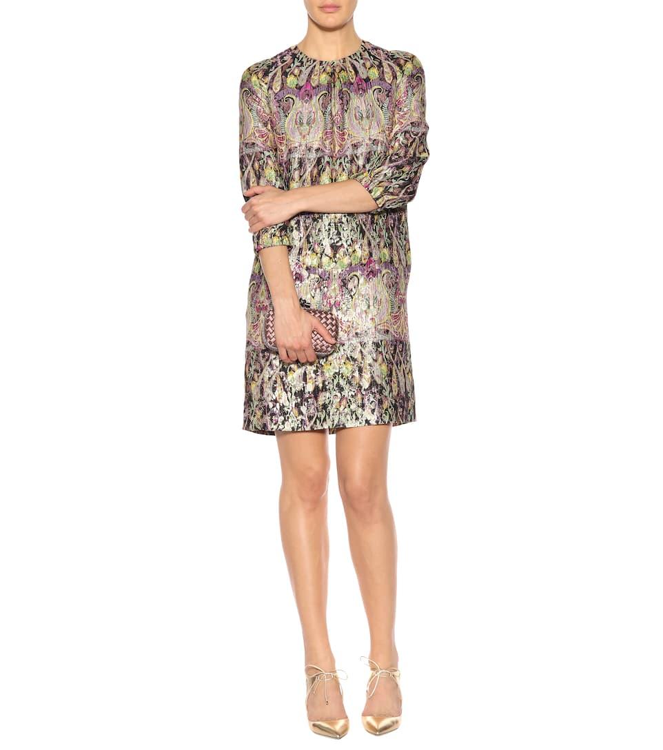 Jacquard seda de Etro mezcla multicolor vestido de AXnpdH