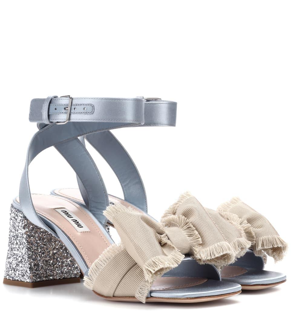 Sandales En Satin - Miu Miu