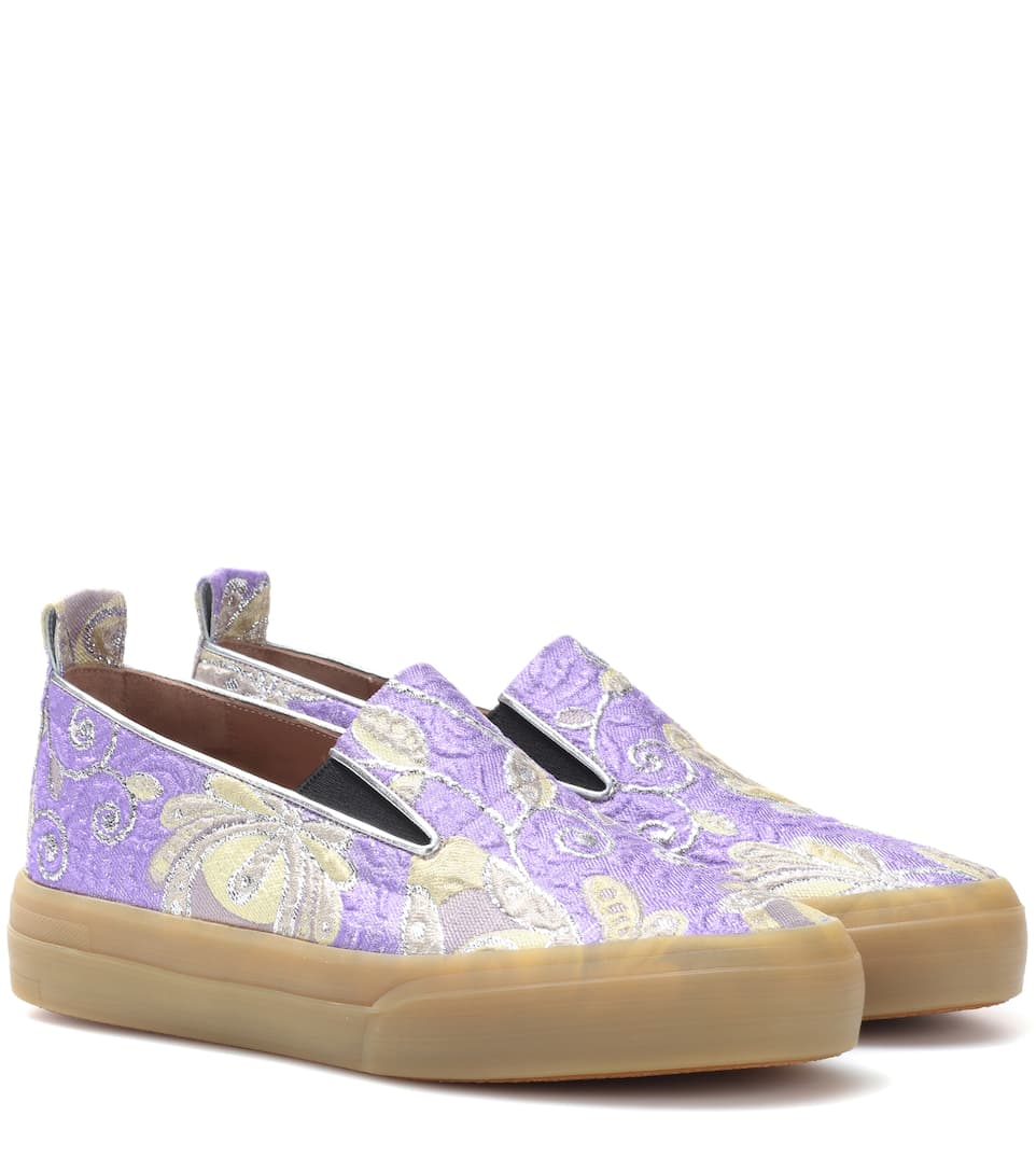 95e53d2781c Brocade Slip-On Sneakers - Dries Van Noten