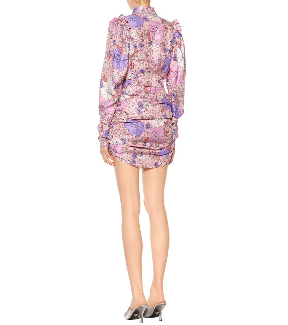 Magda Butrym Printed Mini Dress In Silk Kartagena