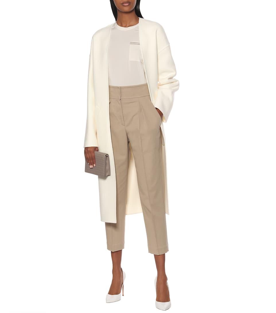 Brunello Cucinelli - Embellished stretch-silk top