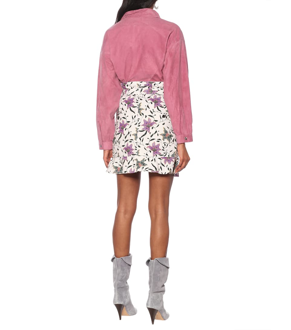 Isabel Marant - Roani printed cotton miniskirt