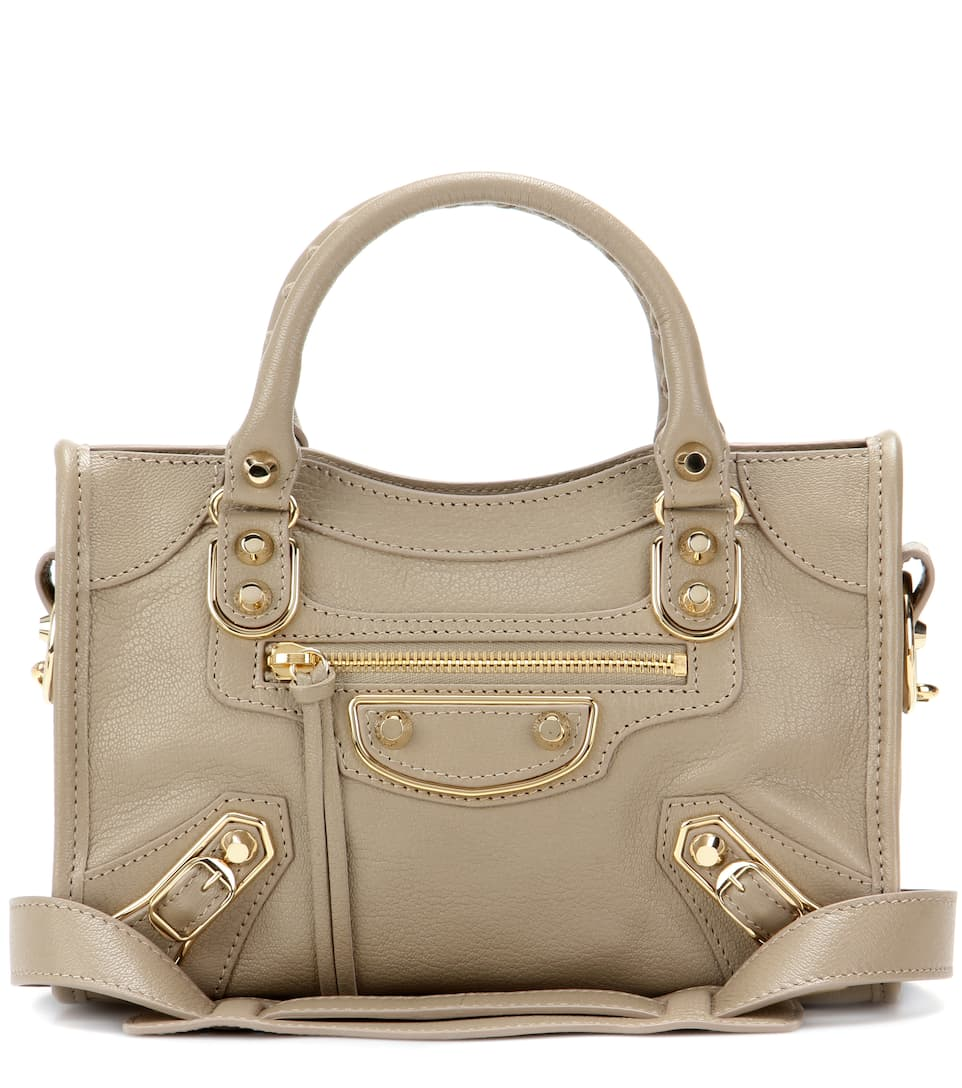 Balenciaga - Cabas en cuir Classic Metallic Edge City Mini