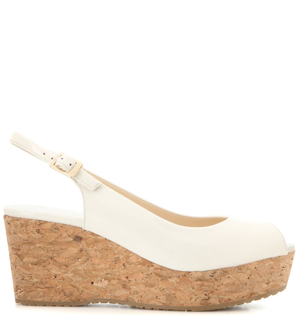 Jimmy Choo Wedge-Sandalen Praise aus Lackleder