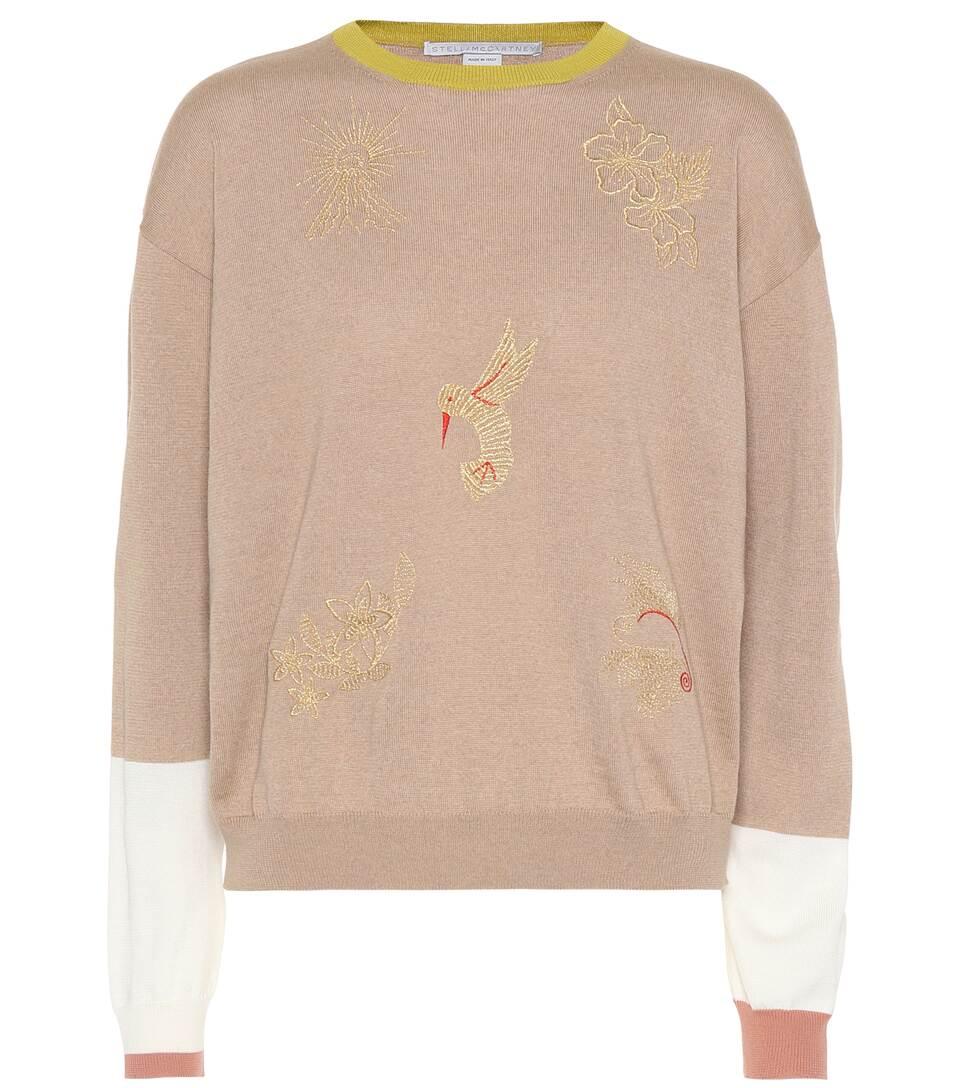 Stella McCartney Bestickter Pullover aus Wolle
