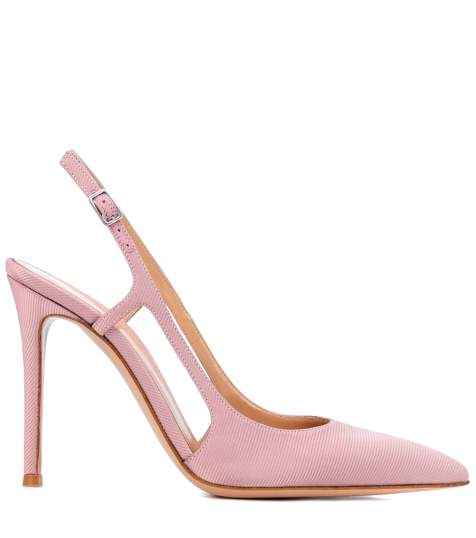 Exclusive to mytheresa.com - Grosgrain slingback pumps Gianvito Rossi H4kBrSvp