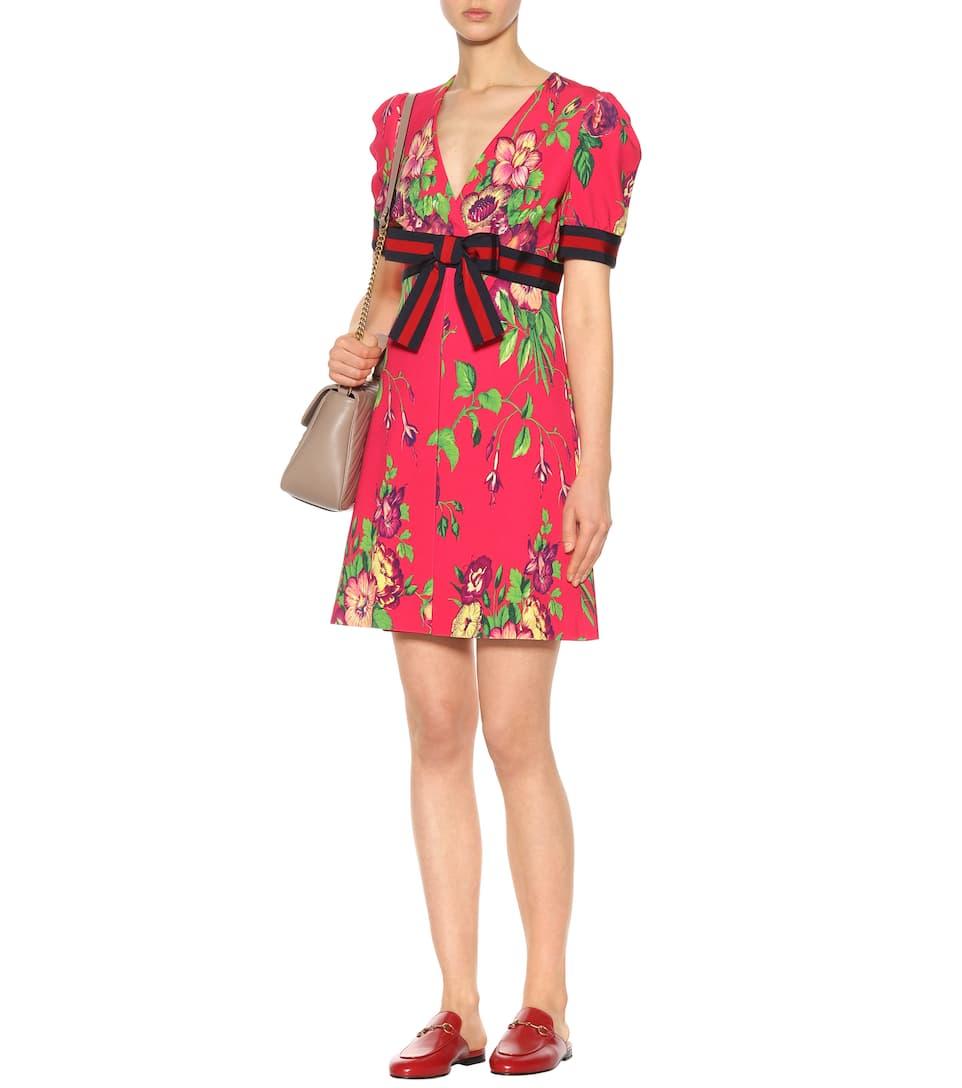 Nagelneu Unisex Zum Verkauf 100% Ig Garantiert Günstiger Preis Gucci Bedrucktes Minikleid aus Crêpe Pick Ein Besten Zum Verkauf 1QQh1ilgd