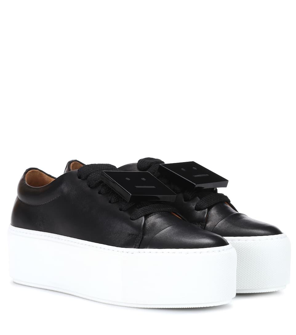 Drihanna Platform Leather Sneakers - Acne Studios