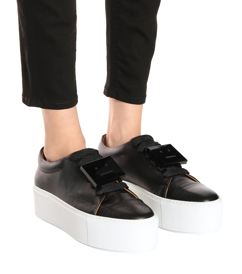 Drihanna platform leather sneakers Acne Studios
