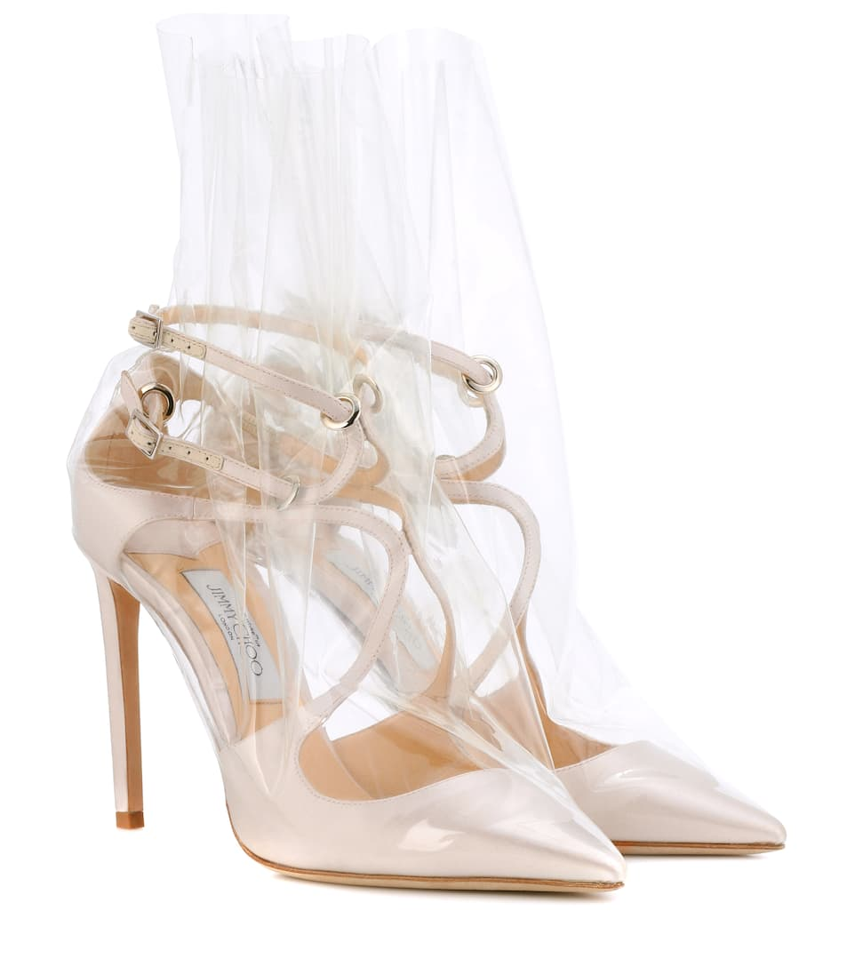 Jimmy Choo X Off-White Pumps Claire 100 aus Satin