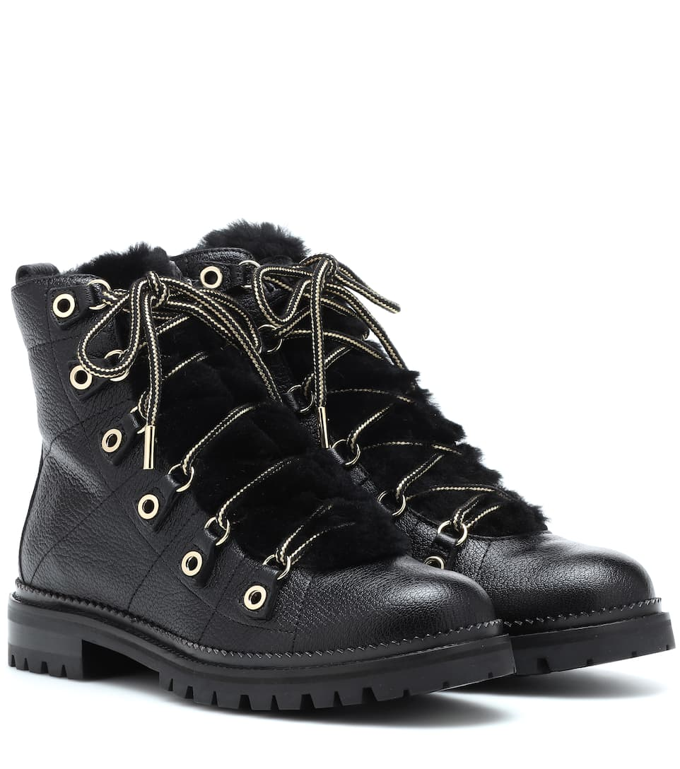 d35534ba1e1 Hillary Flat Leather Ankle Boots