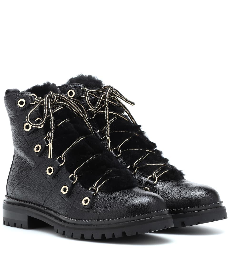 0d87324600774 Hillary Flat Leather Ankle Boots | Jimmy Choo - mytheresa.com