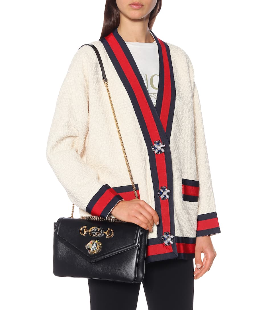 8e108a638b0 Tiger Head Medium Shoulder Bag - Gucci