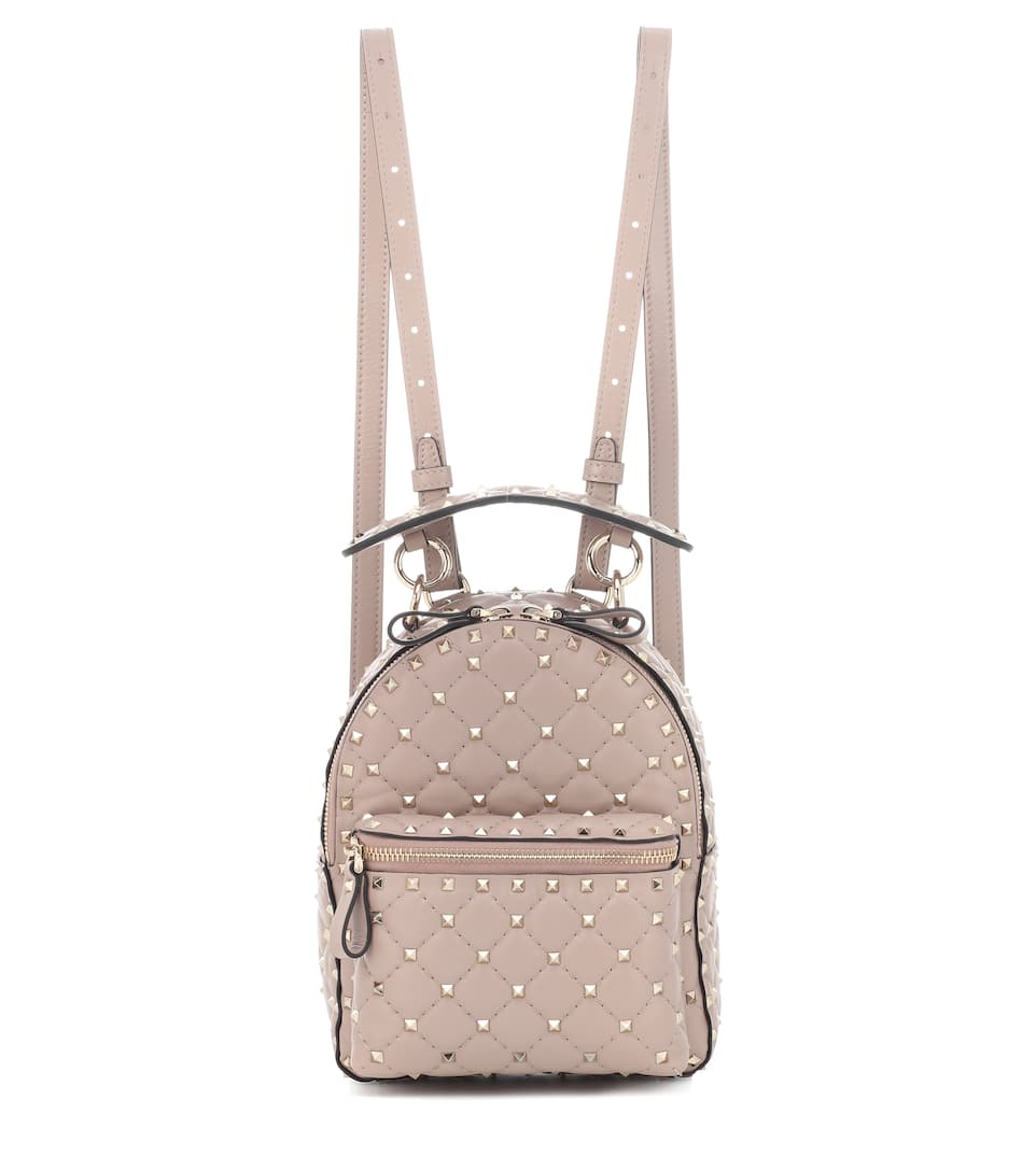 ceccc1a71344 VALENTINO ROCKSTUD SPIKE MINI LEATHER BACKPACK