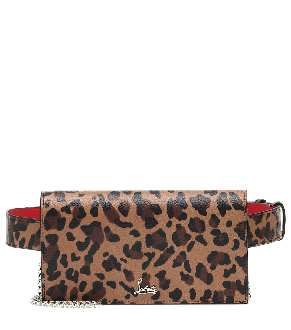 f49909ead Boudoir Leopard-Print Leather Belt Bag - Christian Louboutin | Mytheresa