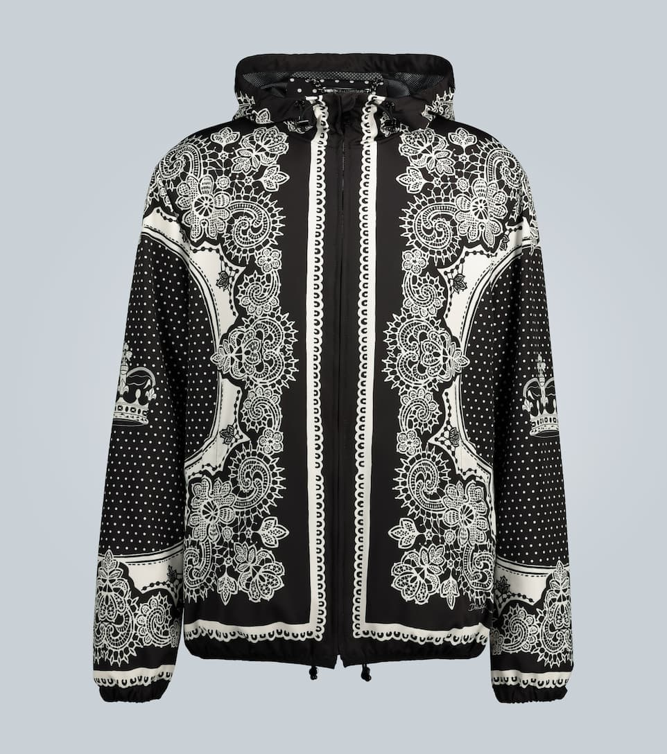 Dolce Gabbana Nylon Hooded Jacket With Bandana Print Mytheresa