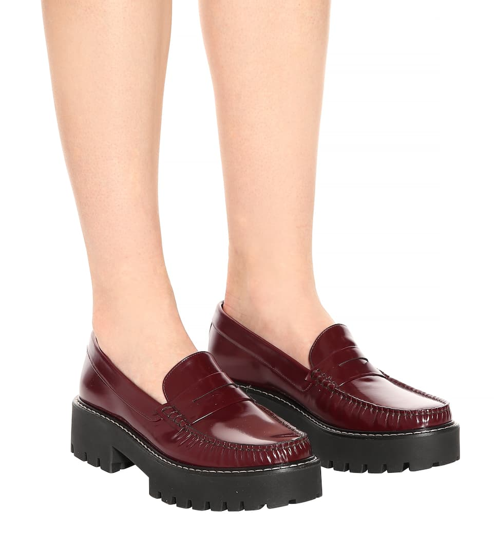 AlexaChung Loafers aus Lackleder