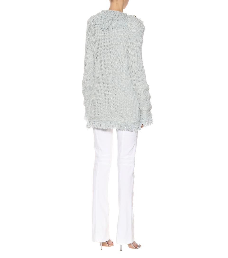 Balmain Cardigan aus einem Baumwollgemisch