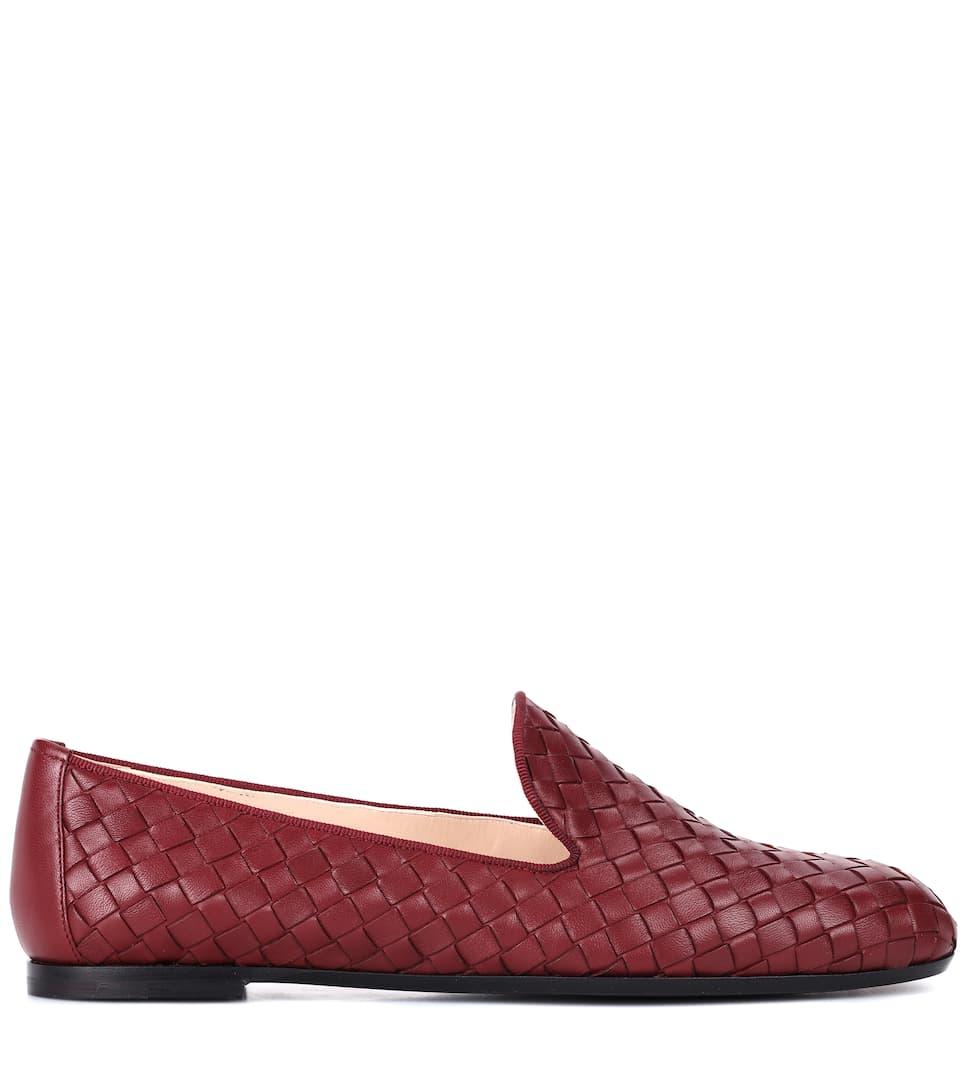 Bottega Veneta Loafers aus Intrecciato-Leder