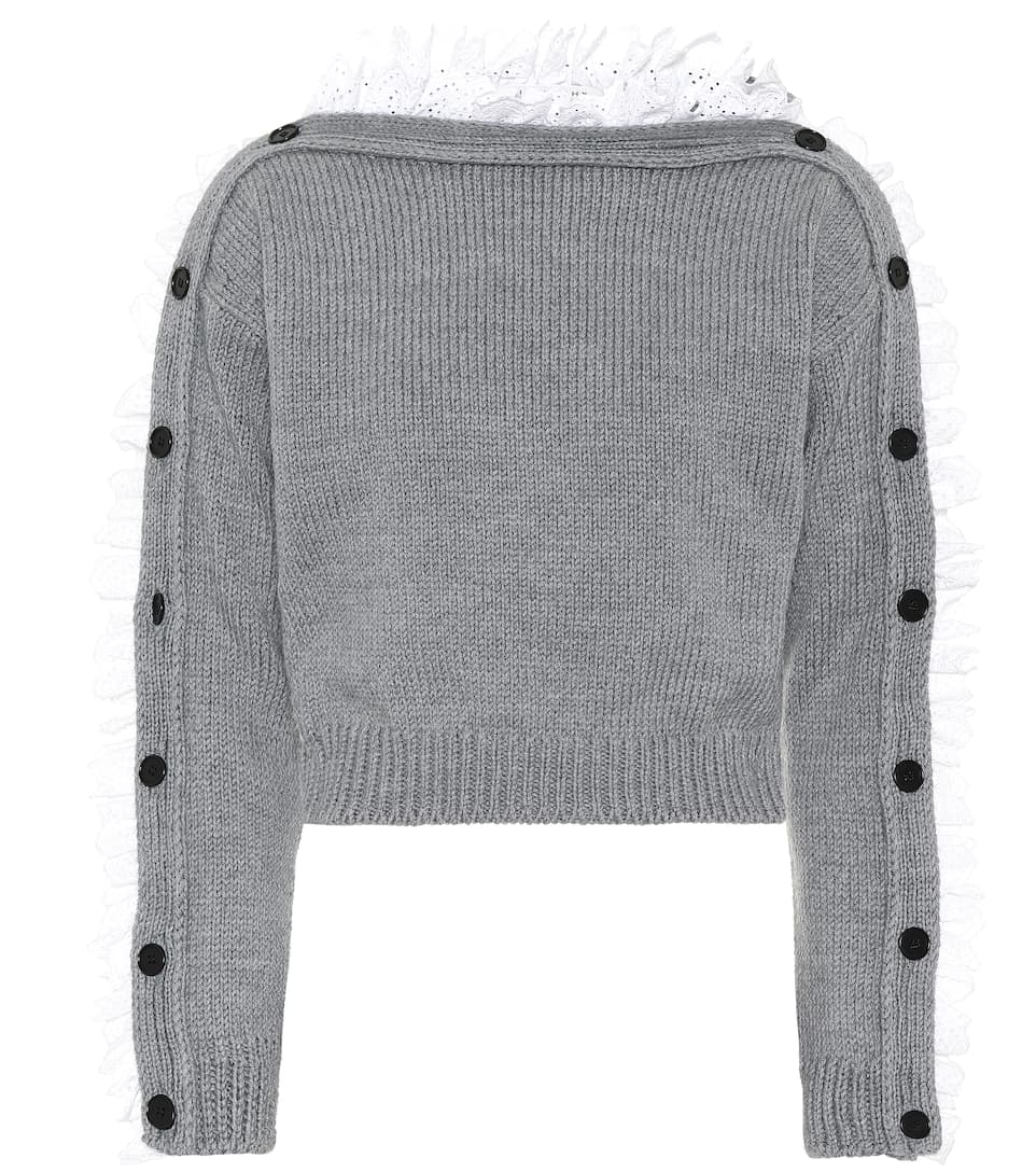 Lace Trimmed Wool Sweater by Philosophy Di Lorenzo Serafini