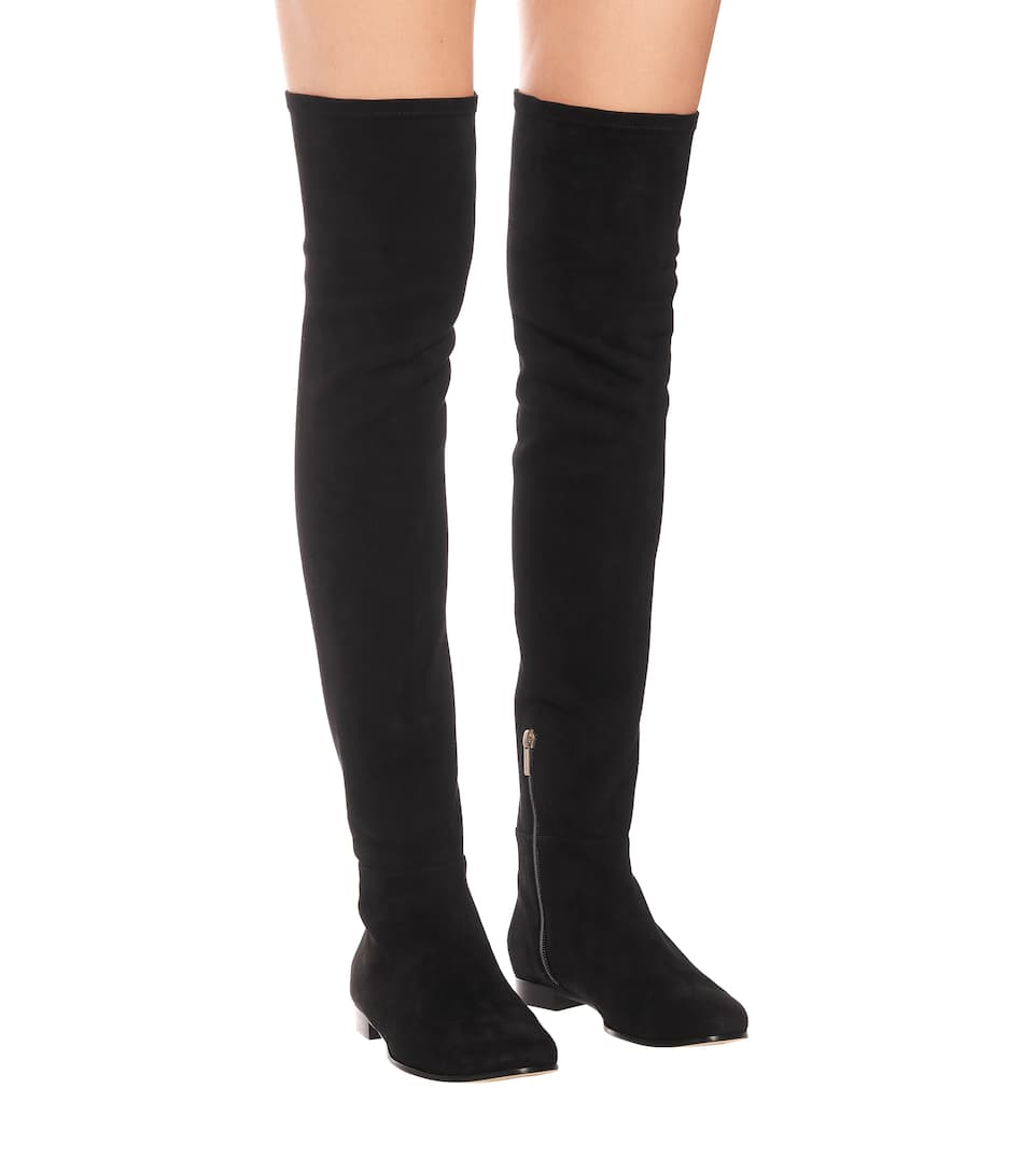 Suede Flat Over The Knee Boots