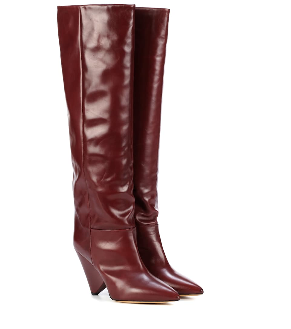 Exclusive to mytheresa.com -Lenskee leather boots Isabel Marant 6WYGn5t
