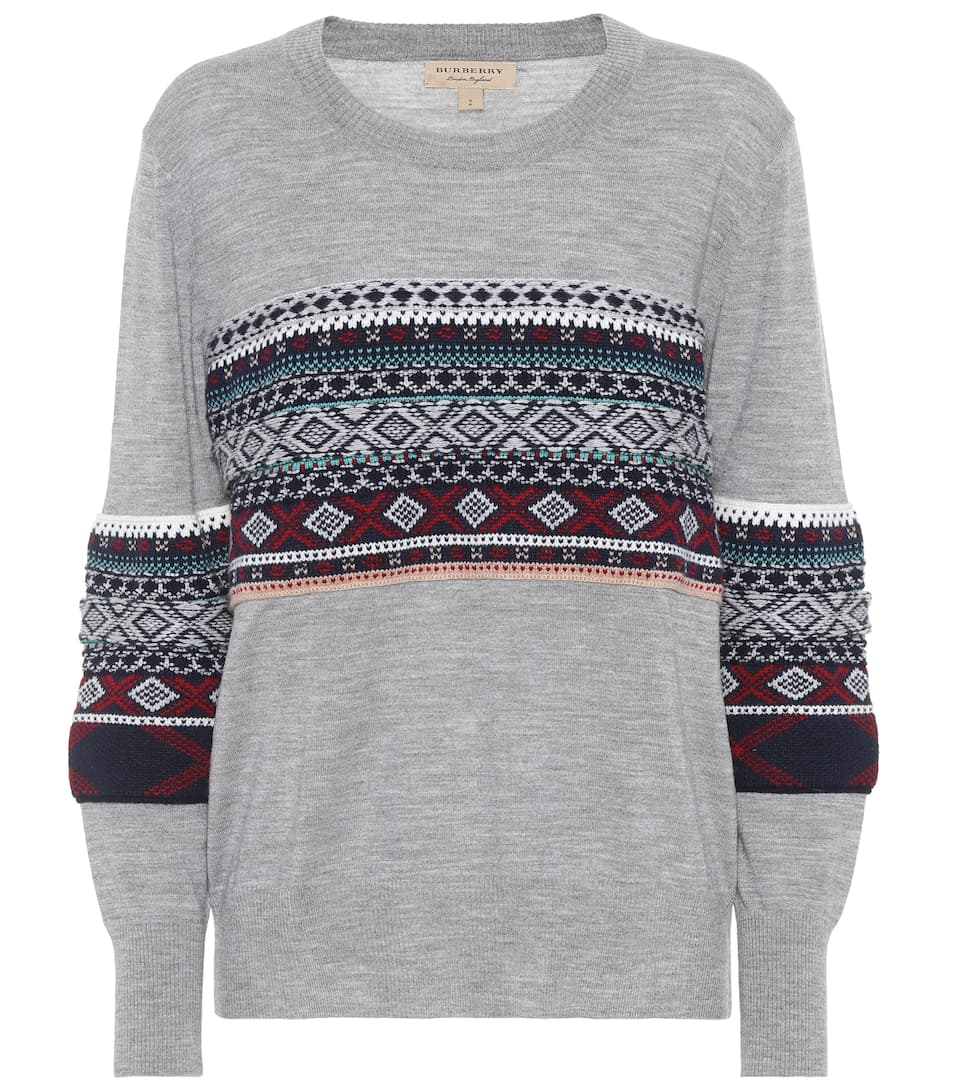 Fair Isle Merino Wool Sweater - Burberry | mytheresa.com
