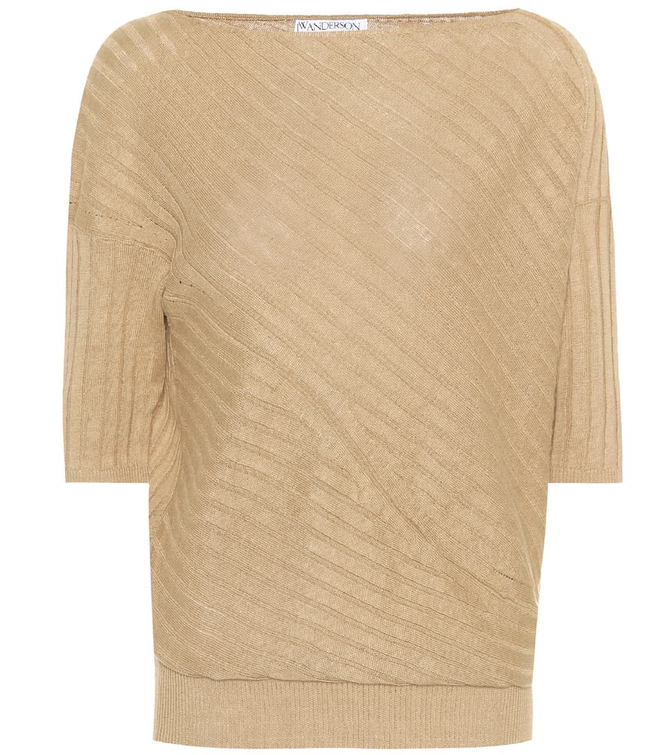Jw Anderson Short-sleeved Top From Linen