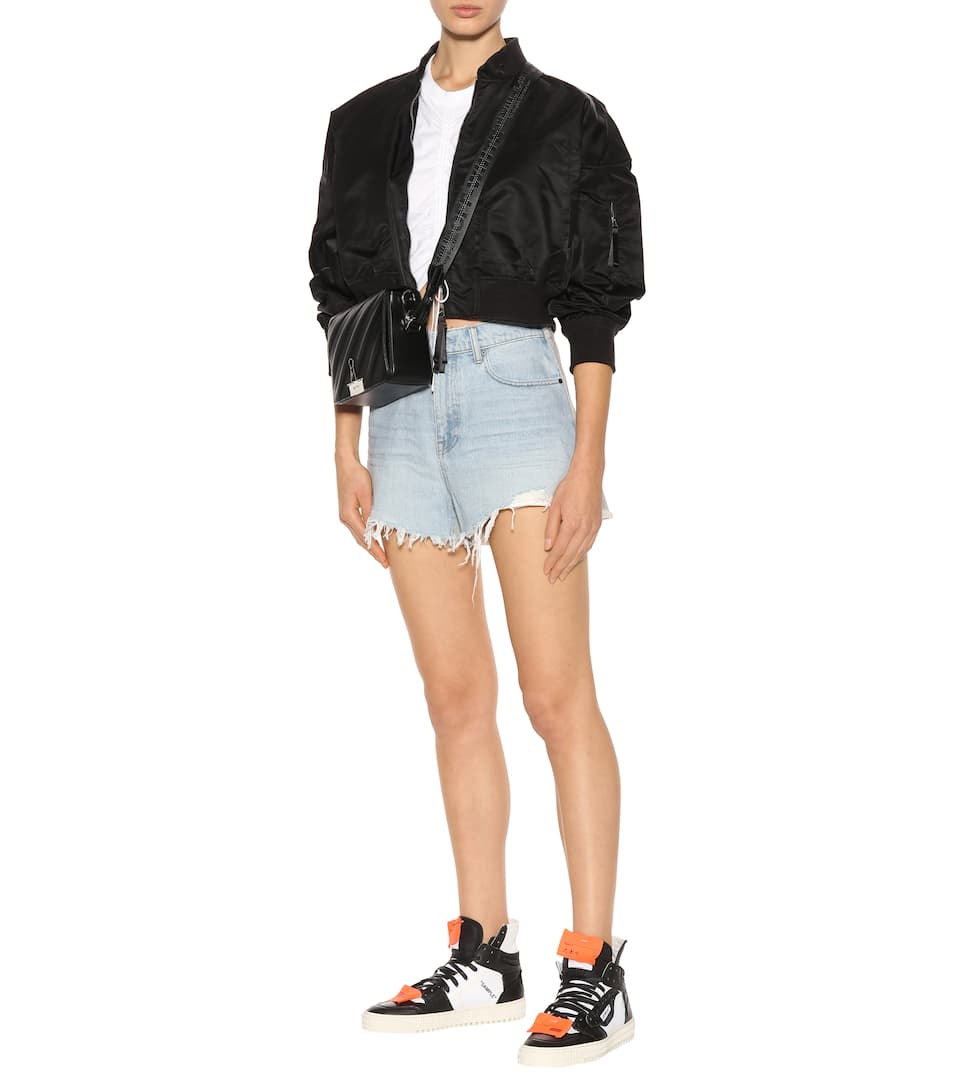T by Alexander Wang Jeans Shorts aus Baumwolle