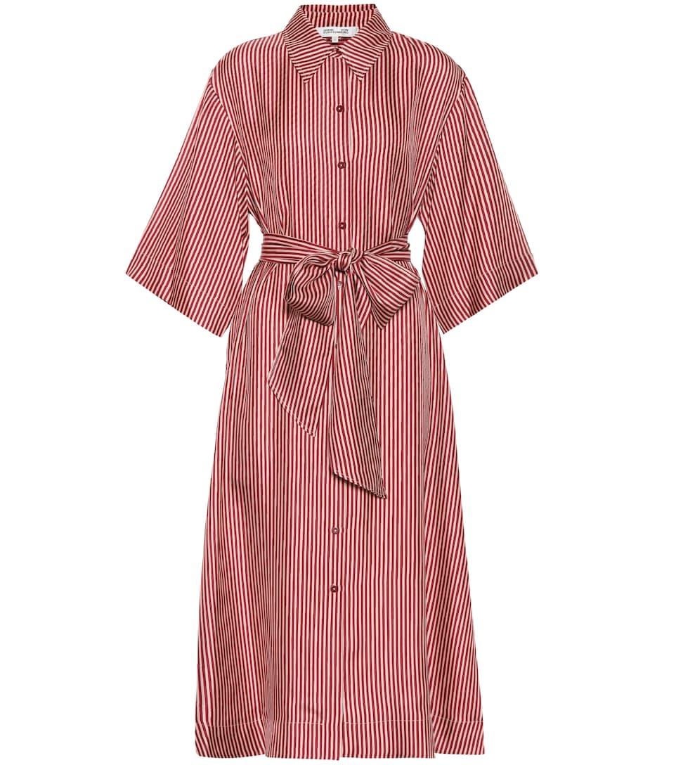 Striped Silk Dress by Diane Von Furstenberg